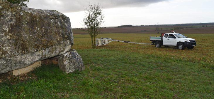 Prospection géophysique autour des nécropoles de Tusson et Luxé/Fontenille (Charente)