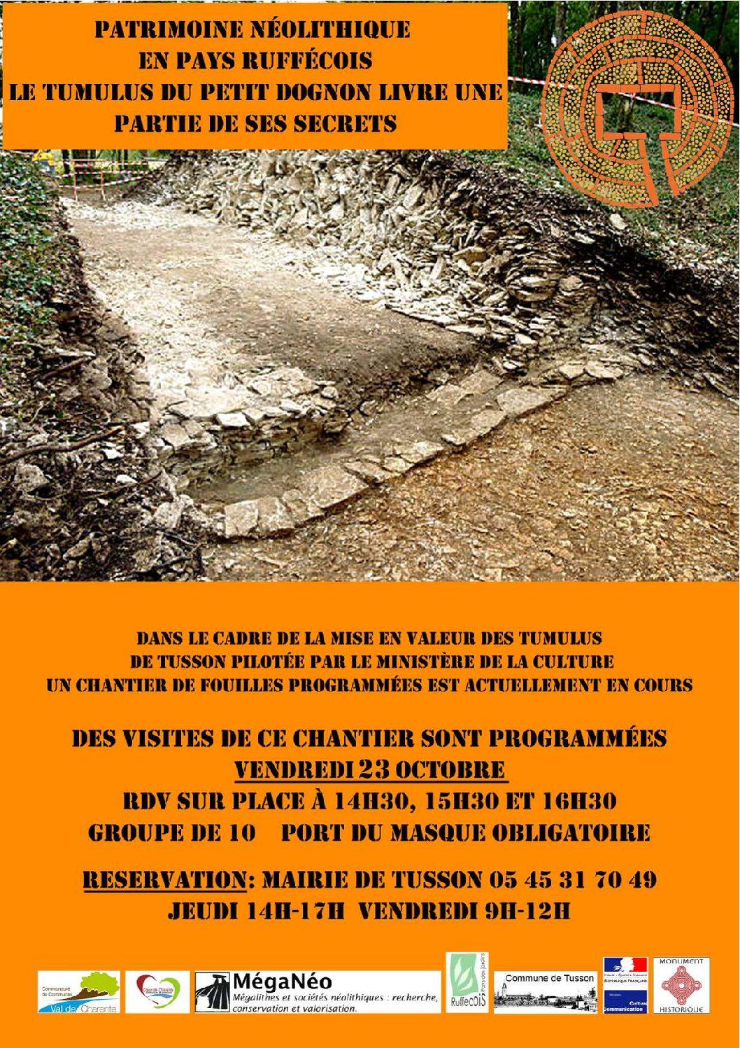 Visites du Tumulus du Petit Dognon à Tusson